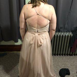 Watters Dresses - Rose gold sequin dress by Watters & Watters.